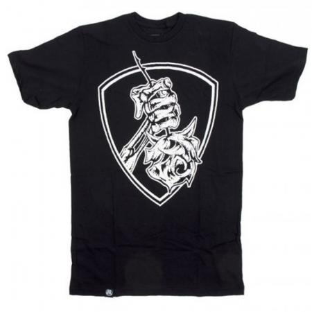 T-Shirts Subrosa Rose Shield L Black