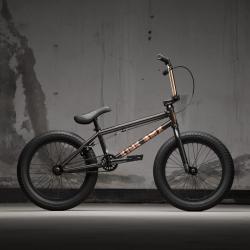 KINK Kicker 18 2021 Gloss Black Copper BMX bike