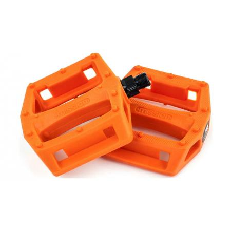 Mission Impulse orange PC pedals