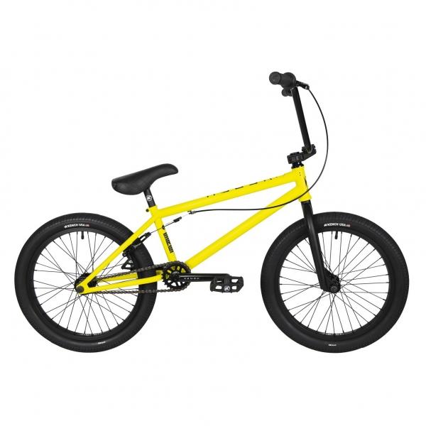 Kench Street CRO-MO 2021 20.5 yellow BMX bike