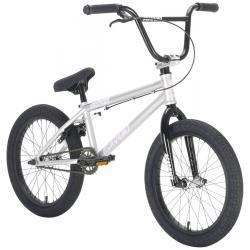 Academy Inspire 18 2021 Silver with Black BMX bike