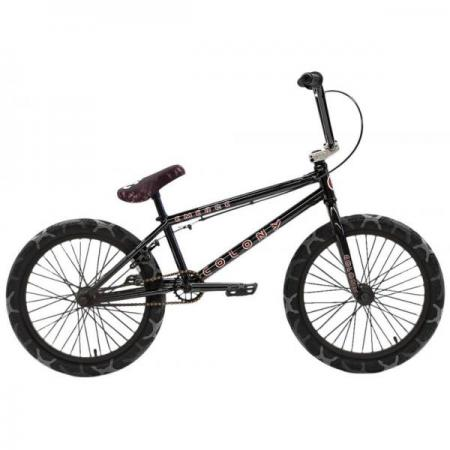 Colony Emerge 2021 20.75 Black with Grey Camo Tires BMX bike