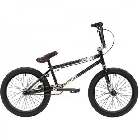 Colony Premise 2021 20.8 Black with Polished BMX bike
