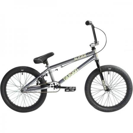Division Blitzer 18 2021 Grey with Polished BMX bike